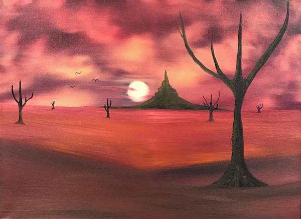 My Son Painting - Alizarin Desert by Willy Proctor