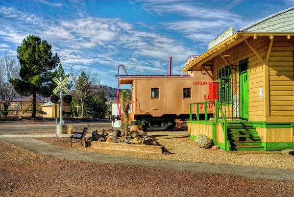 Red Caboose Photograph - All Aboard by Stephen Campbell