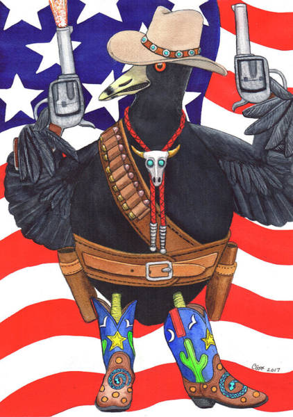 Painting - All American, Rootin' Tootin' Shootin' Coot by Catherine G McElroy
