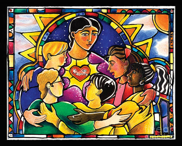 Painting - All Are Welcome - Mmaaw by Br Mickey McGrath OSFS