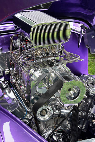 All Chromed Engine With Blower Art Print