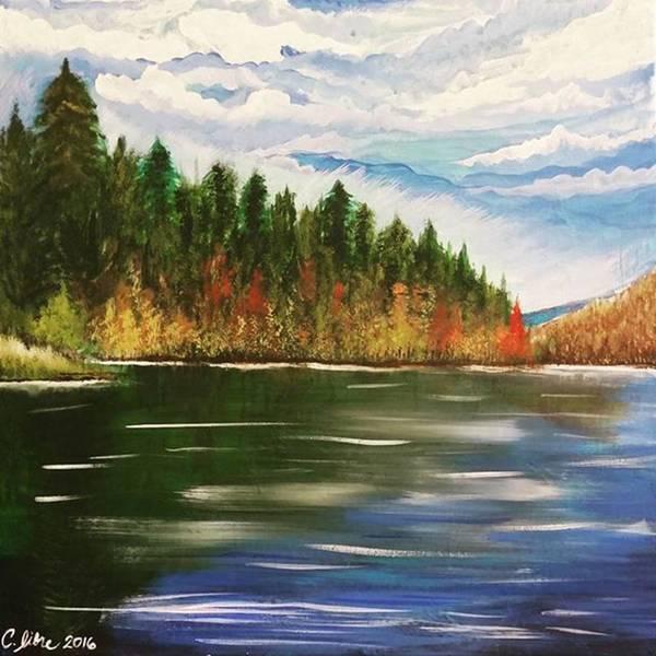 Painting - Autumn Lake by Cariza Libre