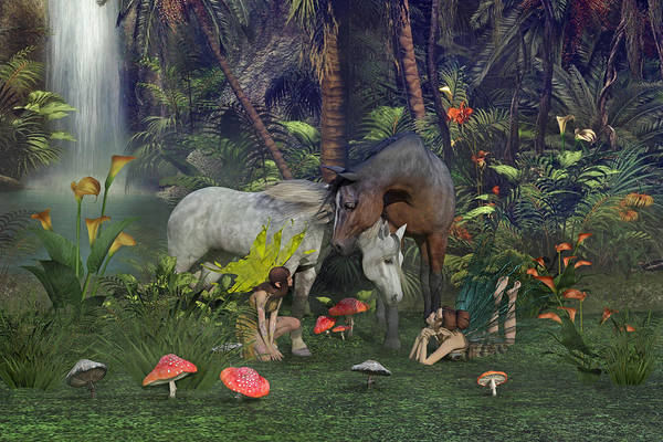Fauna Digital Art - All Dreams Are Possible by Betsy Knapp