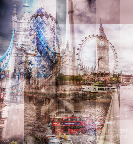 Photograph - all famous building of London by Ariadna De Raadt