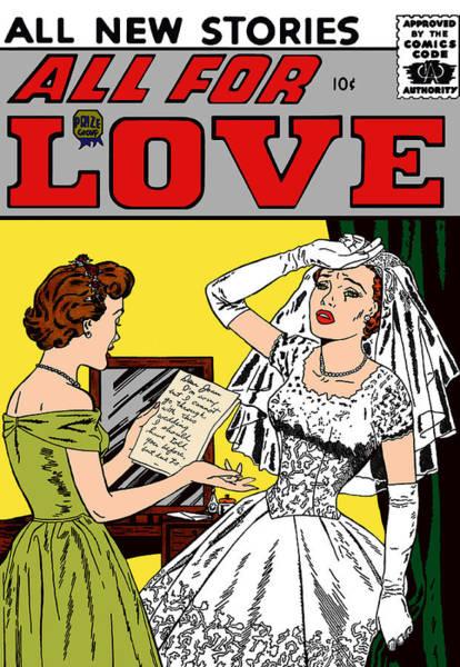 Digital Art - All For Love 8 Wedding Blues by Joy McKenzie