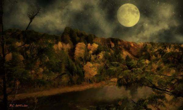 Painting - All Hallows Moon by RC DeWinter