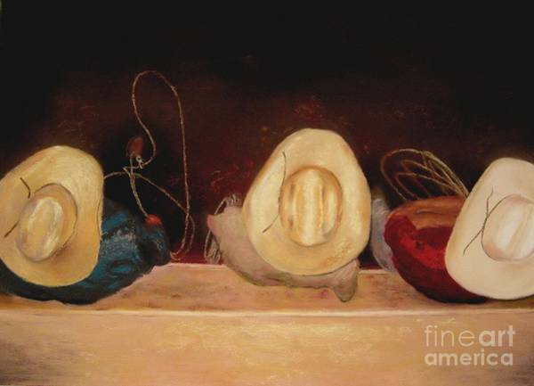 Wall Art - Painting - All Hat'n No Cattle by Sabina Haas