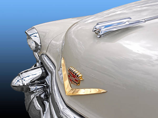 Photograph - All In The Detail - '53 Cadillac Emblem And Hood Ornament by Gill Billington