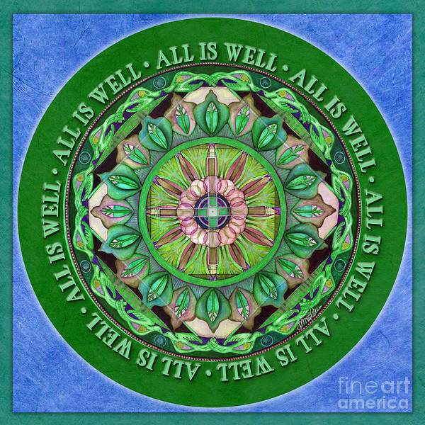 Painting - All Is Well Mandala Prayer by Jo Thomas Blaine
