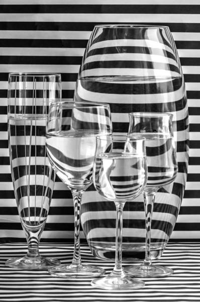 Greyscale Photograph - All Lined Up And Ready by Maggie Terlecki