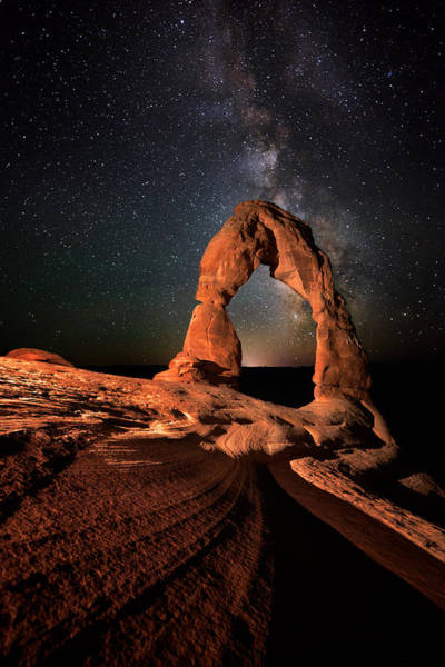 Wall Art - Photograph - All Lines Lead To Delicate Arch by Mike Berenson