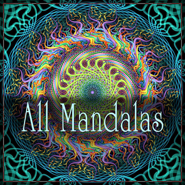 Digital Art - All Mandalas by Becky Titus