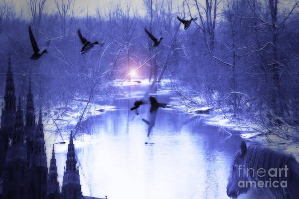 Digital Art - All My Dreams In Blue  by Cathy Beharriell