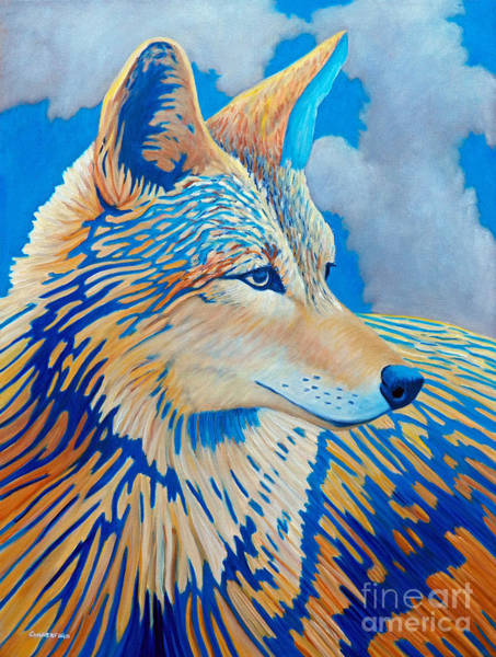 Coyote Painting - All My Life by Brian  Commerford