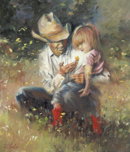 Dad Painting - All Of Life's Little Wonders by Mia DeLode