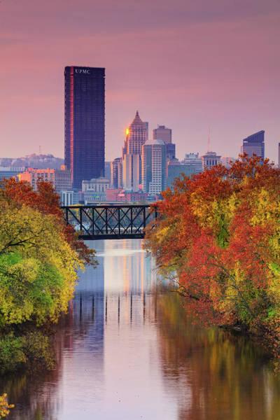 Wall Art - Photograph - All Pittsburgh Pink  by Emmanuel Panagiotakis