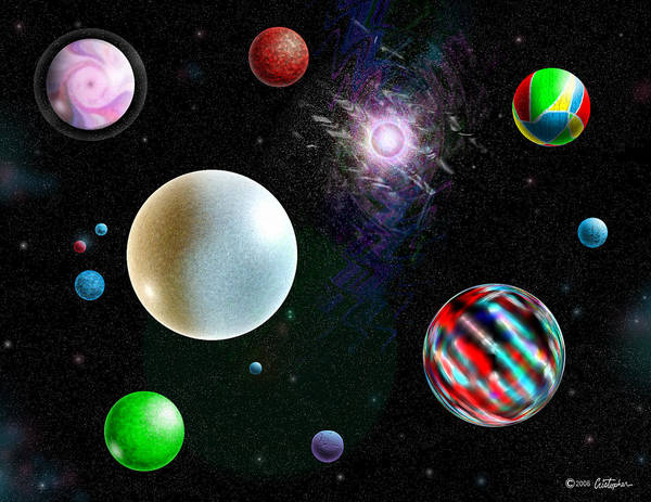 Wall Art - Digital Art - All Planets Of The Solar Federation by Cristophers Dream Artistry