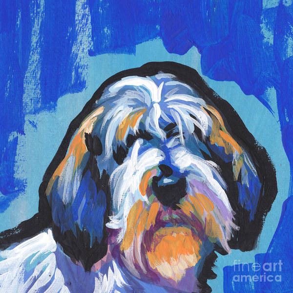 Basset Wall Art - Painting - All Rhymes Pbgv by Lea S