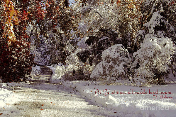 Weihnachten Photograph - All Roads Lead Home by Sabine Jacobs