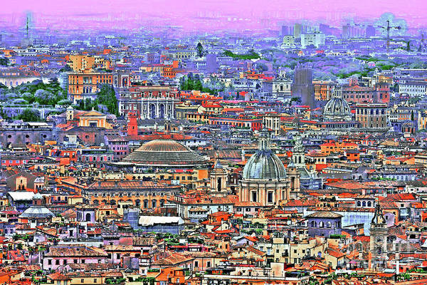 European Vacation Mixed Media - All Roads Lead To Rome by GabeZ Art