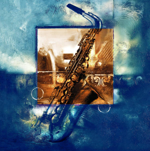 Sax Painting - All That Jazz by Ron Di Scenza