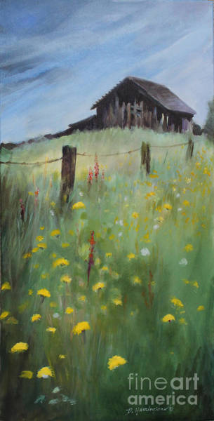 Dandilions Painting - All That Remains by Delores Herringshaw
