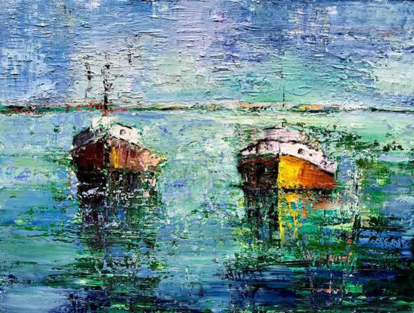 Wall Art - Painting - All The Boats, Including Those That Came Before  by Julia S Powell