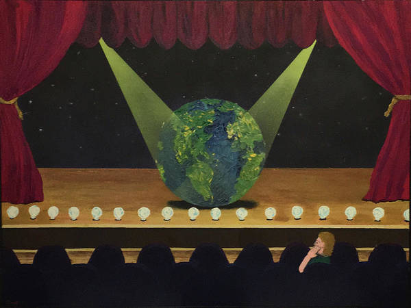 Painting - All The World's On Stage by Thomas Blood