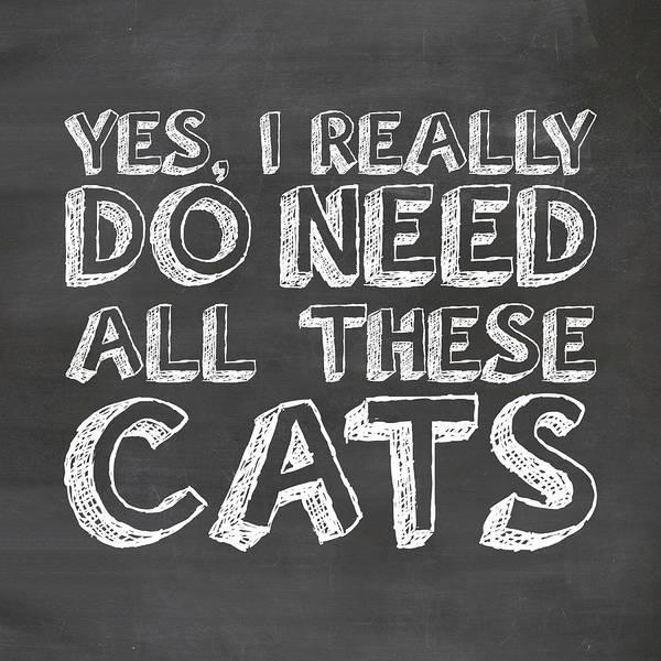 Wall Art - Digital Art - All These Cats by Nancy Ingersoll