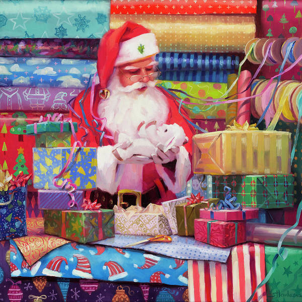 Presents Painting - All Wrapped Up by Steve Henderson