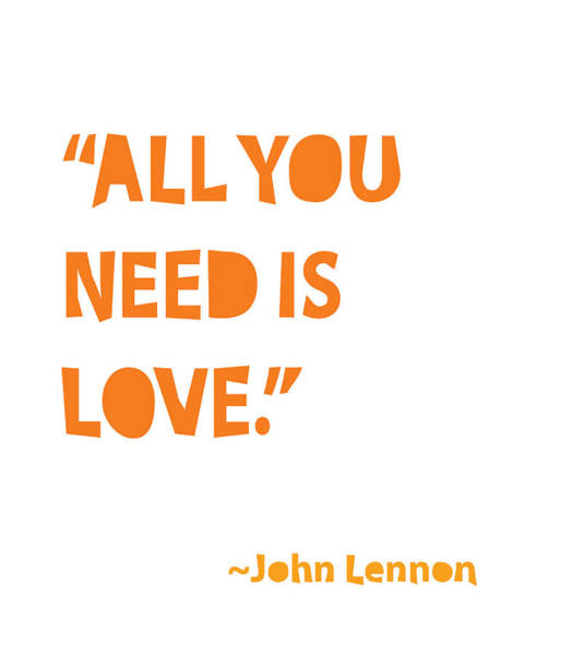 Wall Art - Painting - All You Need Is Love by Cindy Greenbean