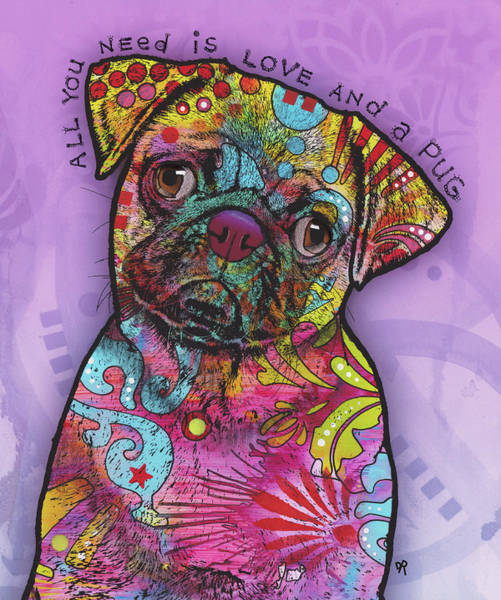 Needs Painting - All You Need  Pug by Dean Russo Art