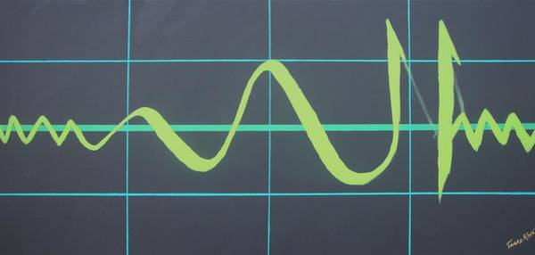 Heart Gold Painting - Allah In Cardiograph by Faraz Khan