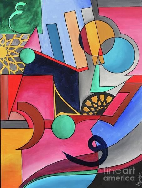 Painting - Allah-muhammad by Nizar MacNojia
