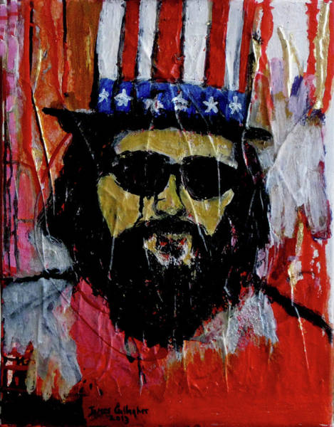 Wall Art - Painting - Allan Ginsberg by James Gallagher
