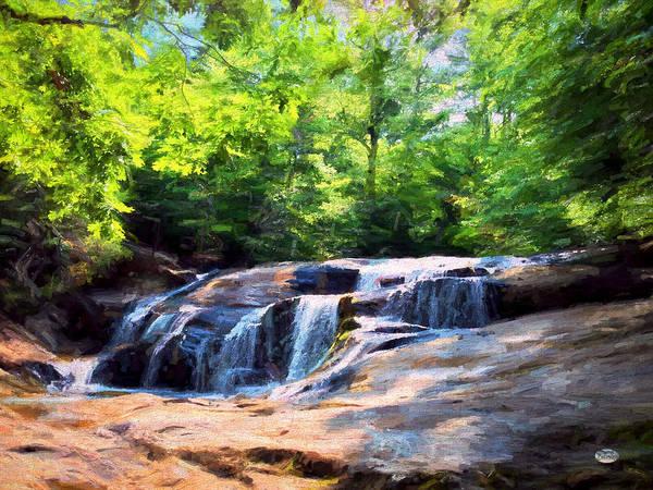 Digital Art - Allatoona Falls by Daniel Eskridge