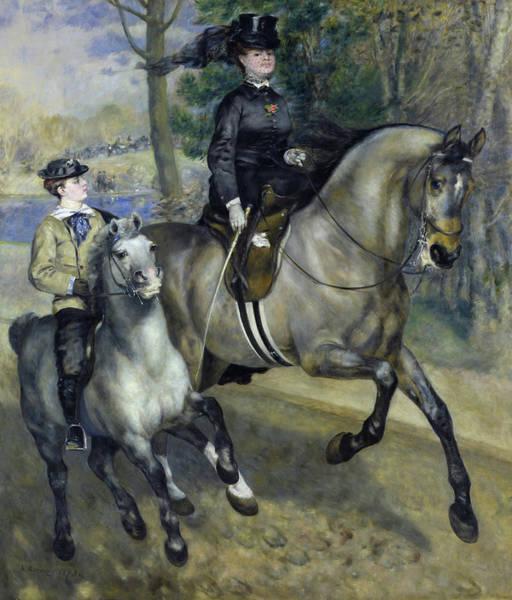 Wall Art - Painting - Allee Cavaliere by Pierre-Auguste Renoir