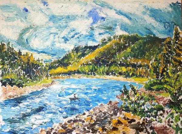 Painting - Allegheny Reservoir by Walt Brodis