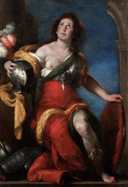 Believers Painting - Allegorical Figure by Bernardo Strozzi