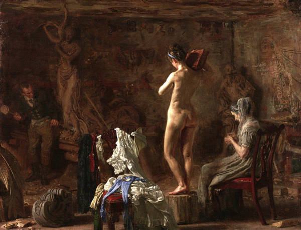 Carving Painting - Allegorical Figure Of The Schuylkill River by Thomas Eakins