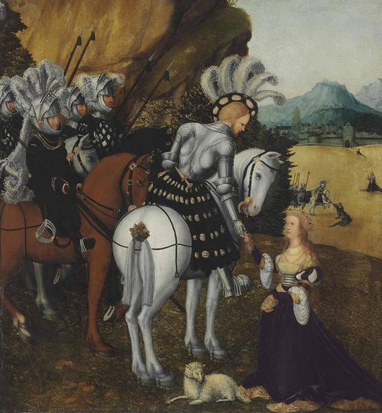 Cranach Painting - Allegorical Portrait Of A Knight by Lucas Cranach the Elder