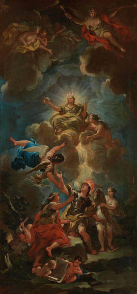 Divine Love Wall Art - Painting - Allegory Of Divine Wisdom by Luca Giordano