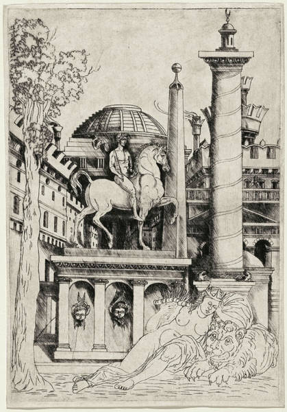 Drawing - Allegory Of Fortitude  by Master of 1515