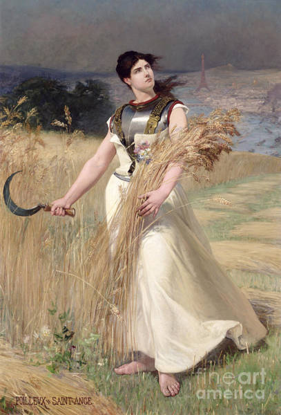 Sickle Painting - Allegory Of France by Georges Louis Poilleux Saint Ange