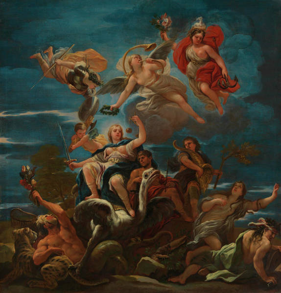 Fairness Wall Art - Painting - Allegory Of Justice by Luca Giordano