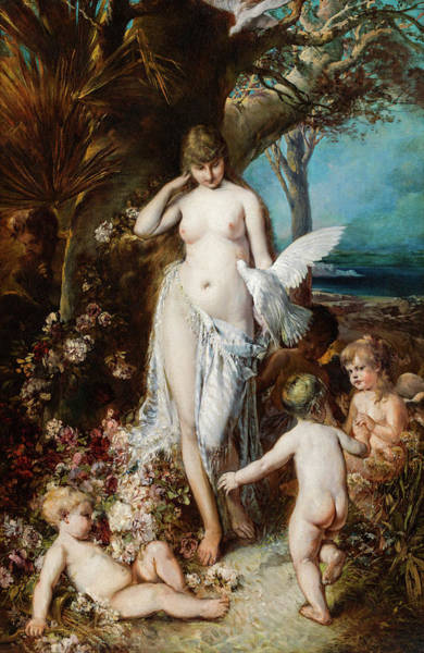Fertility Painting - Allegory Of Love by Hans Makart