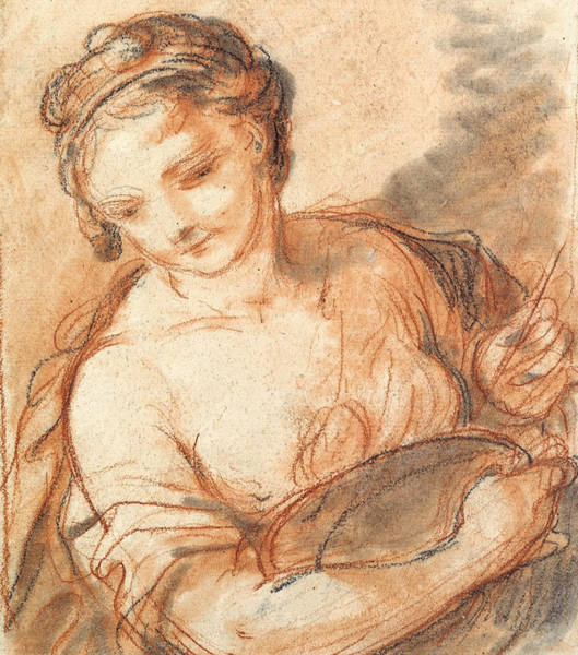 Drawing - Allegory Of Painting by Charles-Joseph Natoire
