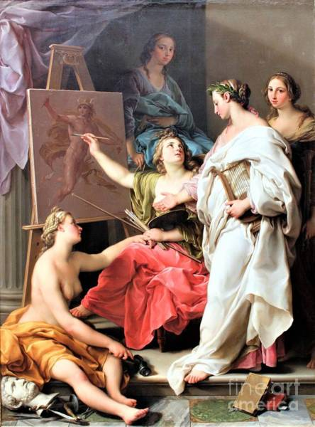 Wall Art - Painting - Allegory Of The Arts by Pg Reproductions