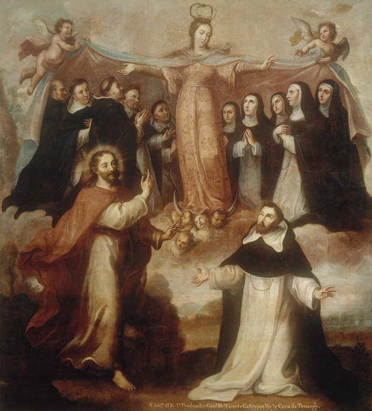 18th Century Wall Art - Painting - Allegory Of The Virgin Patroness Of The Dominicans by Miguel Cabrera