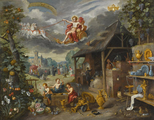 Wall Art - Painting - Allegory Of War And Peace by Jan Brueghel the Younger